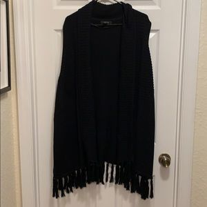 Style & Co knit sweater vest with fringe